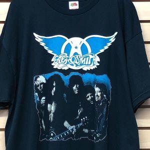 Old Vtg Aerosmith band shirt new sz XXL